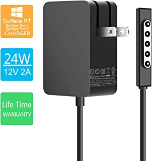 Ostrich AC Adapter Charger 24W 12V 2A for Surface RT Surface Pro 1 and Surface 2 1512 Charger