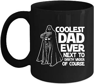 Best Dad Ever Cup, Darth Vader Star Wars Change color mug, Magic Coffee Heat Sensitive Mug (Color Changing Mug 15oz)