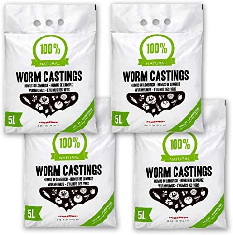 Baltic Worm Worm Castings - Pure Multipurpose Fertiliser Vermicompost - Natural Top Soil Builder and Improver Plant Feed for Potting Germination Growing