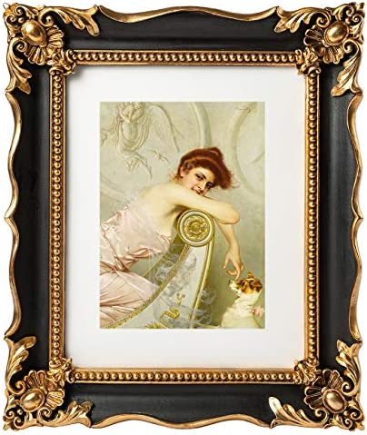 ASOWIN 8x10 Vintage Picture Frame with Embossed Flower Design Antique Frames for 8 10 or 5 7 product image