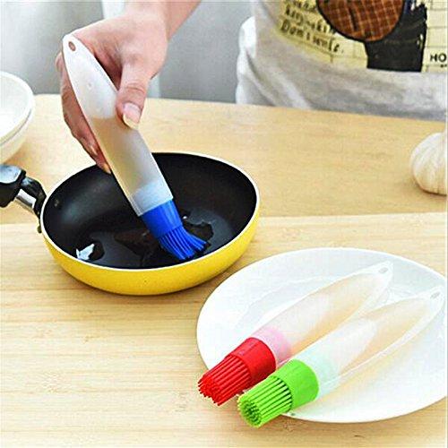 Flaschenbürste Silikonöl Silikon Die farbe Flasche Pinsel für Grillen Kochen Backen BBQ Ölpinsel Kombüse Geschirr