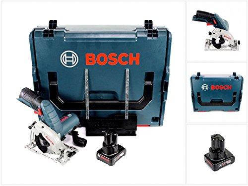Bosch GKS 12V-26 - Sierra circular de mano (12 V, 85 mm, en caja L-Boxx + 1 batería de 6,0 Ah, sin cargador)