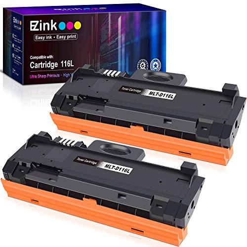 E-Z Ink E-Z® - Cartucho de tóner Compatible para Samsung 116L MLTD116L D116L MLT D116L para Usar con SL-M2625D SL-M2675F SL-M2825DW SL-M2835DW SL-M2875FD SL-M2875FW SL-M2885FW (2 Negros)