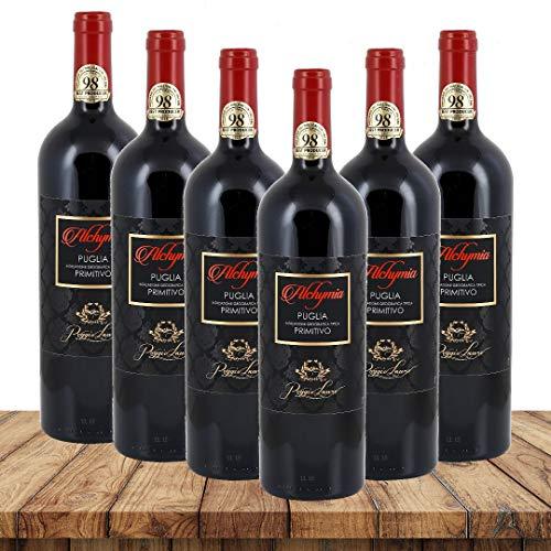 Lauro Alchymia PRIMITIVO 2018| Weinpaket Rotwein (6 x 0,75 Liter) | Rotweine aus Italien