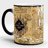 Footprint Marauders Map Magic Hot Cold Heat Temperature Sensitive Color-Changing Coffee Tea Mugs Cup