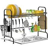 Over The Sink Dish Drying Rack, BuyAgain Stable Stainless Steel Dish Drying Rack