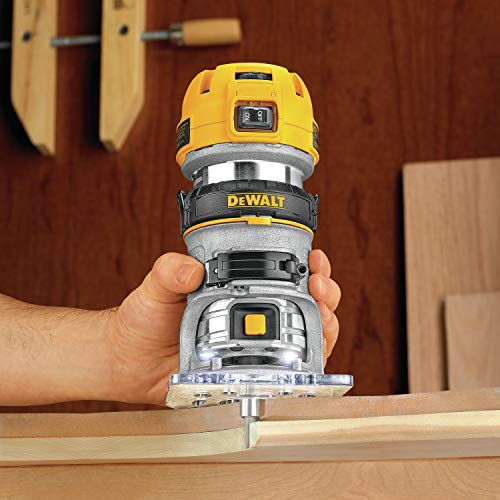 DEWALT Router, Fixed Base, Variable Speed, 1-1/4-HP Max Torque (DWP611)