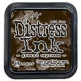 Ranger August Distress Almohadilla de Tinta de café y Pinza para el cinturón, marrón