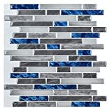 Azulejo autoadhesivo para la pared de Art3d, de ladrillos, antisalpicaduras, para la cocina, diseño de piedra, despegar y pegar (10 hojas)