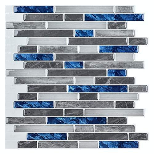Art3d Peel & Stick Brick Kitchen Backsplash Self-Adhesive Wall Tile Stone Design, 10 Sheets