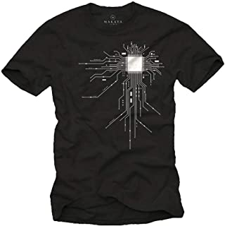 MAKAYA Camiseta Friki Hombre - CPU