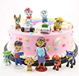 12PCS Paw dogs patrol cake topper Cup cake topper mini Figurines Children mini toys Kids birthday party supplies