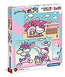 Clementoni- 2 Puzzles 20 Piezas Hello Kitty (24765.3)