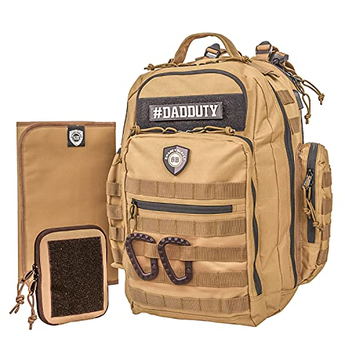 Baby Diaper Bag Backpack for Men Swanky Beaver Daddy Bag Changing Mat Wipe Pouch