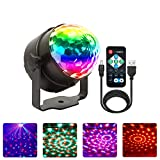 Disco Lights,NIAGUOJI Rechargeable Disco Ball Lights 4 Colours RGBP Party Lights Strobe Lights