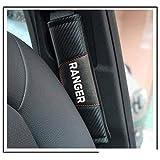 NA 2pcs Coche Cubierta del Cinturón de Seguridad Hombro Almohadillas, para Ford Ranger Protección Hombros Confort Acolchado Protector Clip, Accesorios de Interior Car