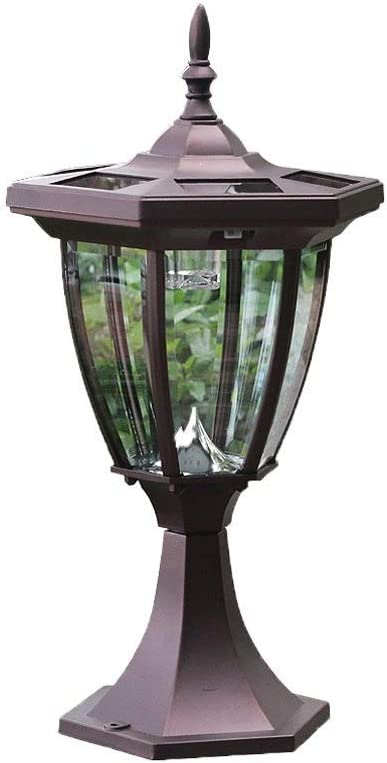 Inventory cleanup selling sale ZZYJYALG Retro Die Cast Aluminum Glass Post LED Cheap super special price Lamp Lantern Sol