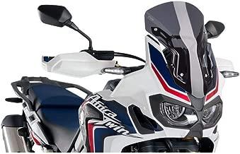 16-18 HONDA CRF1000L: Puig Racing Windscreen (290mm Tall) (Dark Smoke)
