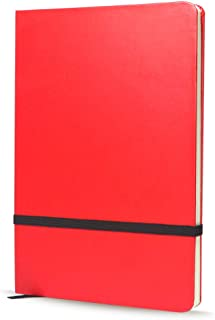Memo Book/Notepad 5×7 inch A6 Executive Notebook-Journal for Valentine's Day/Friend and Business Gift(Red cover Blank Pages)