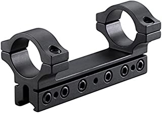 BKL 1-Pc Mount, 4 Long, 1 Rings, 3/8 or 11mm Dovetail, 6 Base Screws.007 Drop Compensation, Matte Black