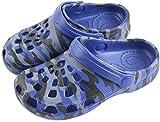 Kiyoh Kids Clog Slippers Sandals Cute Cartoon Boys Girls Non-Slip Garden Shoes Water Shoes Sneakers Clogs Beach Pool Shower Blue