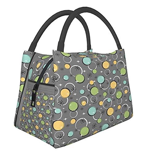 Bolsa aislada portátil Happy Dot Gray Bolsas de compras para comestibles, alimentos, plegable, lavable, multifuncional