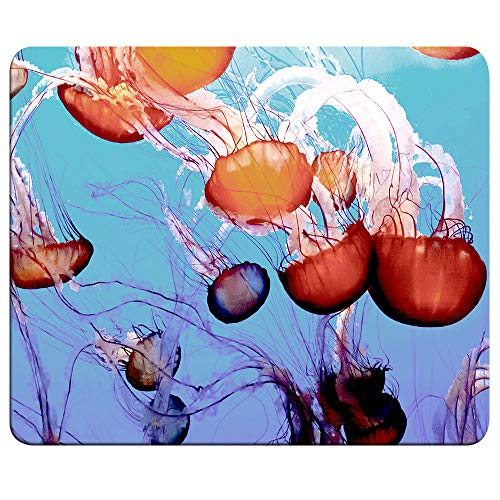 Home/Office Jellyfish Mouse Pad, Abstract Jellyfish Art Ocean Sea Life Love Mouse pad (9.5 inch x 7.9 inch) Nonslip
