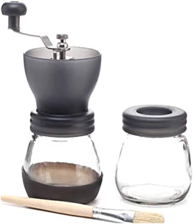 MINGTAI Coffee Grinder Manual Coffee Grinder Fresh Hand Grinder Light Grey (Color : Gray, Size : 16.5 * 20CM)