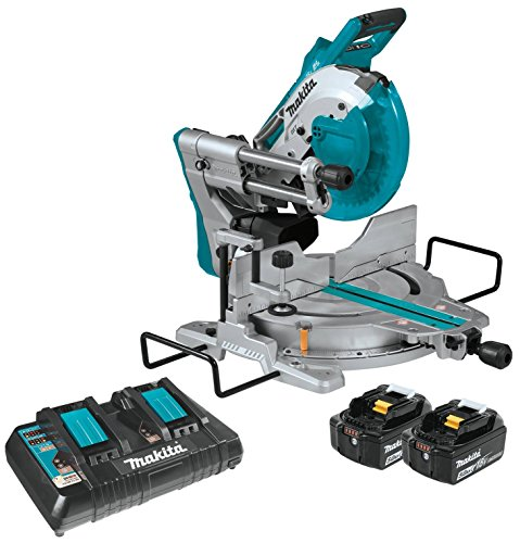 Makita XSL06PT 18V x2 LXT Lithium-Ion (36V) Brushless Cordless 10' Dual-Bevel Sliding Compound Miter...