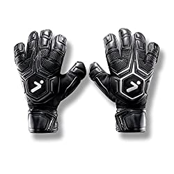 Black STORELLI ExoShield Gladiator Pro 2 Goalkeeper Gloves