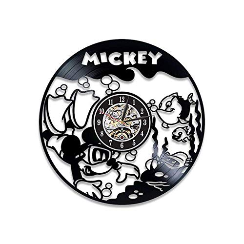 YXZQ Reloj de Pared Reloj de Pared para Sala de Estar Wish Ebay, 12 Pulgadas, Estilo 2 Negro