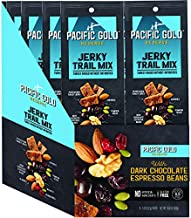 Pacific Gold Reserve Peppercorn Turkey Jerky Trail Mix with Dark Chocolate Espresso Beans, 1.8 Ounce (Pack of 8)