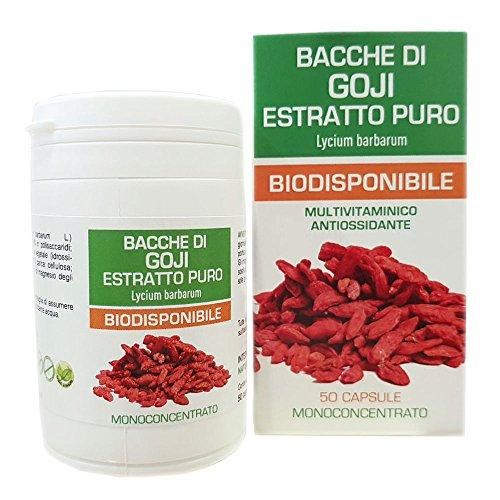 Naturpharma 500mg Bacche Di Goji Estratto Puro Biodisponibile 50 Capsule