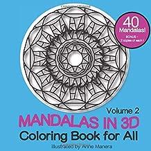 Mandalas in 3D Coloring Book for All Volume 2