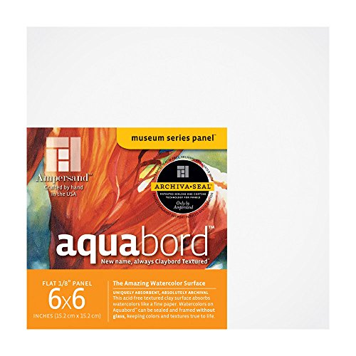 Ampersand Art Supply Watercolor Painting Panel: Museum Series Aquabord, 1/8 Inch Depth 4