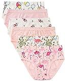 6 Paquet Petite Fille sous-vêtements Coton Fit Âge 1-7, Undies Fille de Bébé Panties Bambin Fille (Flamant, 1-3 Ans/Taille 15.6', Hauteur 33' -37')