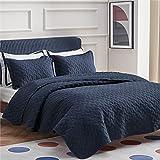 Bedsure King Quilt Bedding Set Navy Blue - Lightweight King Size Quilt Set for Summer Bedspreads Coverlet with 2 Pillow Shams