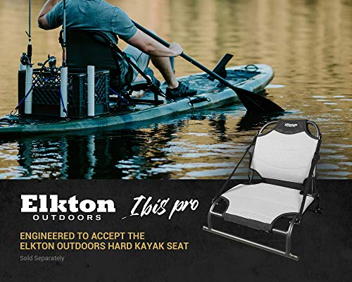 Elkton Outdoors 12' IBIS Pro Stand Up Fishing Paddleboard, Hybrid Angler SUP Kayak Package, Ultra Durable Rotomolded Construction
