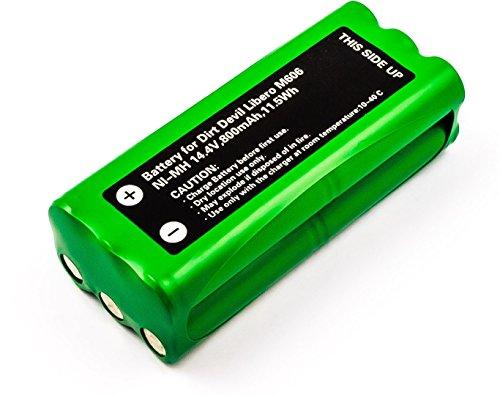 MicroBattery MBVC0001 accesorio y suministro de vacío Robot vacuum Batería - Accesorio para aspiradora (Robot vacuum, Batería, Níquel-metal hidruro (NiMH), 800 mAh, 14,4 V, 11,5 Wh)
