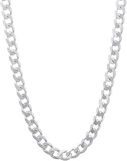 925 Sterling Silver Necklace Chains 5MM Italian Miami Cuban Curb Link Solid Necklace Chain 16