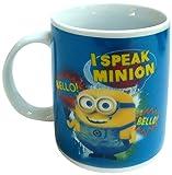 Minions - Taza regular'I speak Minion' de 320 ml, color azul (United Labels 812153)