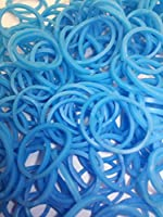 ルームバンド 補充パック セレクトカラー 水色 600個入り 可愛いピンクラベル カラフルSクリップ12個付き レインボールーム ファンルーム DIY (水色)