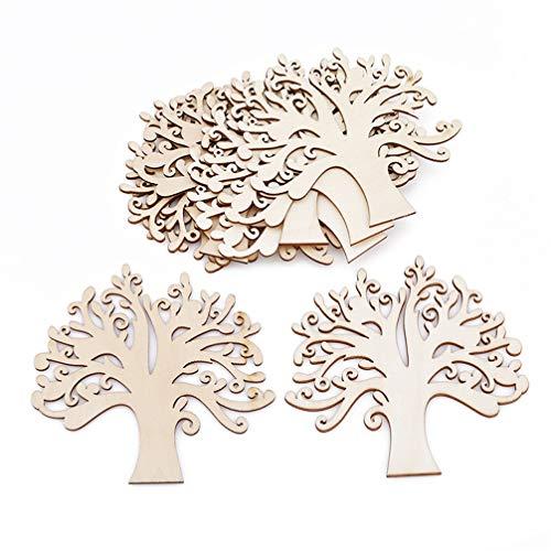 Toporchid - Decorazioni per albero in legno, 10 pezzi, decorazione per la casa