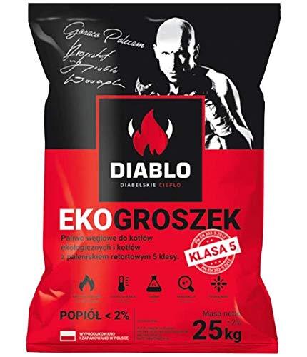 GroßhandelPL Diablo Öko-Erbse Kohle Schmiedekohle Nusskohle Brenn Heiz Nuss Erbsen Kohle 8-25mm 25kg