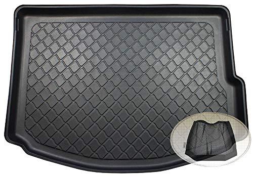 ZentimeX Z3130339 Gummierte Kofferraumwanne fahrzeugspezifisch + Klett-Organizer (Laderaumwanne, Kofferraummatte)