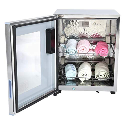 50 L 2 en 1 Dual Layer Calefacción Toalla Calentamiento Desinfección Gabinete...