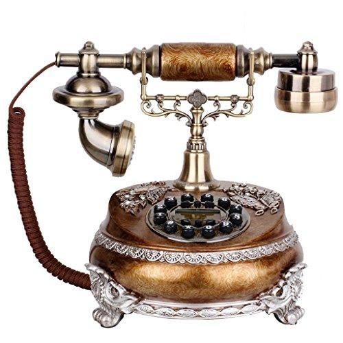 LXYFMS - Teléfono de Estilo Retro con diseño de líneas telefónicas Americanas
