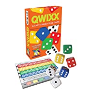 """Gamewright Qwixx - A Fast Family Dice Game Multi-colored, 5"""""""