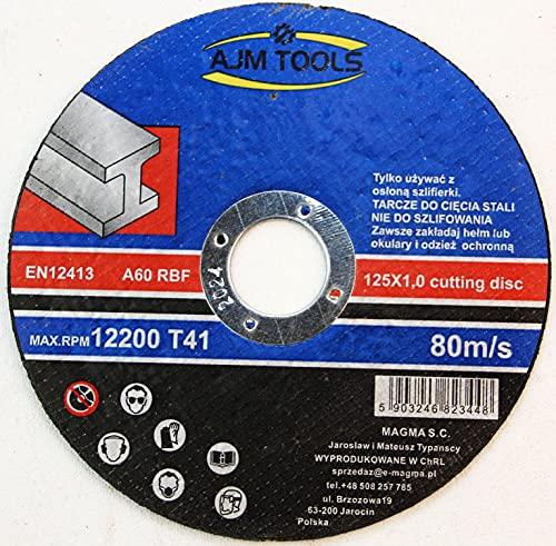 50 discos de corte inoxidable para acero, metal, acero inoxidable, 125 x...
