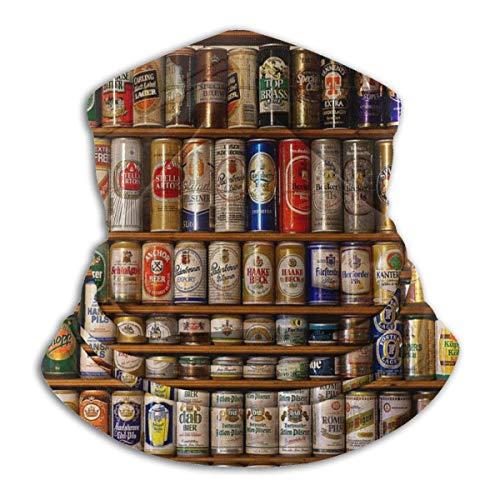 DFGHG Kreative Flaschen Bier Kunst Unisex Mikrofaser Halswärmer Kopfbedeckung Gesicht Schal Maske Für Winter Kaltwetter Maske Bandana Sturmhaube